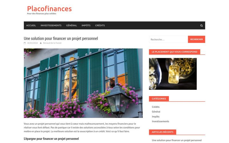 Une solution pour financer un projet personnel – Placofinances
